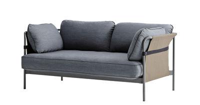Divano angolare destro Can / 2 posti - L 172 cm - Hay - Grigio-blu - Metallo