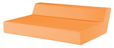 Foto Divano destro Matrass Seat 150 - h 20 cm - 2 posti di Quinze & Milan - Arancione - Materiale plastico