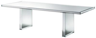 Mobilier - Tables - Table Prism Mirror / 240 x 90 cm - Glas Italia - Miroir - Verre finition miroir