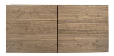 Walnut Anrichte / 6 Schubladen - L 180 cm x H 82 cm - POP UP HOME - Nussbaum