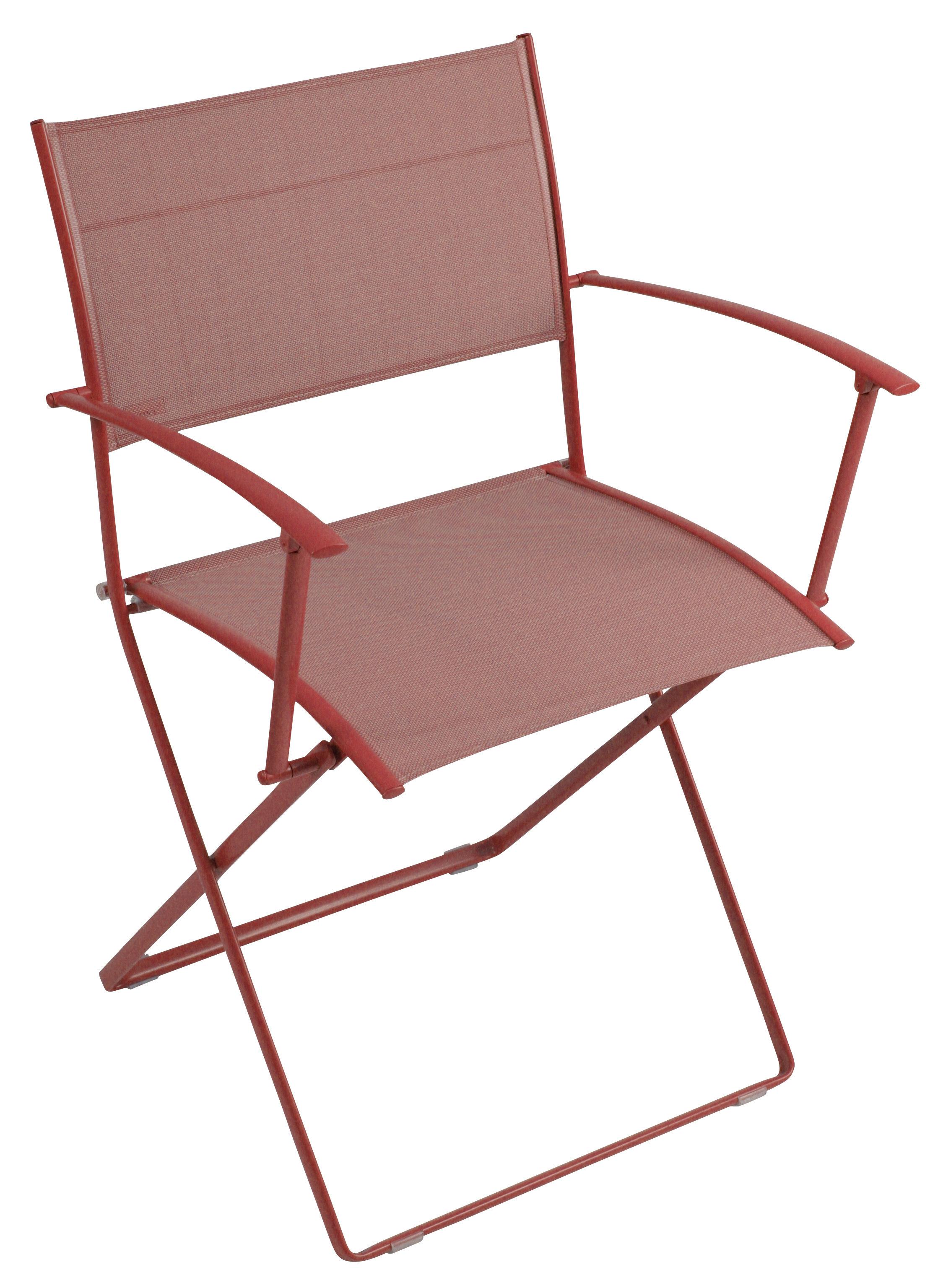 fauteuil pliant plein air toile coquelicot fermob. Black Bedroom Furniture Sets. Home Design Ideas