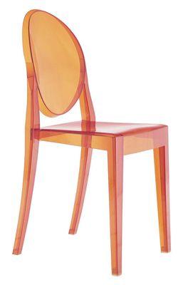 Foto Sedia impilabile Victoria Ghost di Kartell - Arancione - Materiale plastico