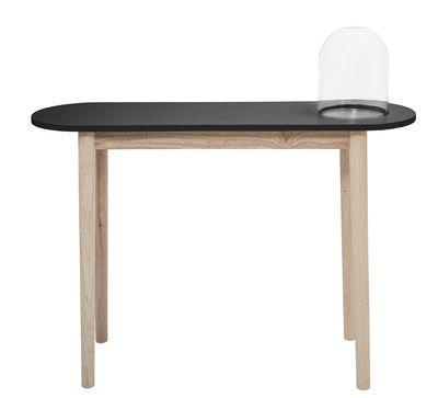 Console / Avec cloche en verre - L 110 cm - Bloomingville noir,bois naturel en bois