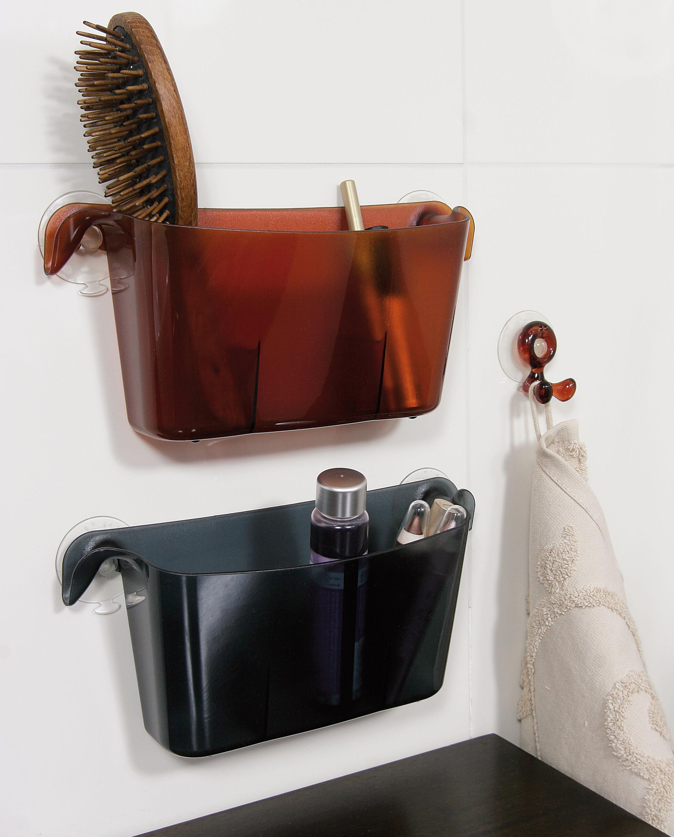bac de rangement boks avec ventouses cristal koziol. Black Bedroom Furniture Sets. Home Design Ideas