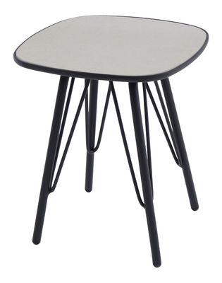 Table d´appoint Lyze / Plateau fibre-ciment - 40 x 40 cm - Emu noir,gris clair en métal