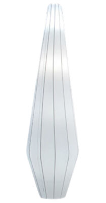 Lighting - Floor lamps - Nature Floor lamp - H 170 cm by Dix Heures Dix - White - Stainless steel, Strectch fabric