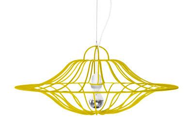 Suspension Ombrelle / Ø 60 cm - La Corbeille blanc,jaune en métal