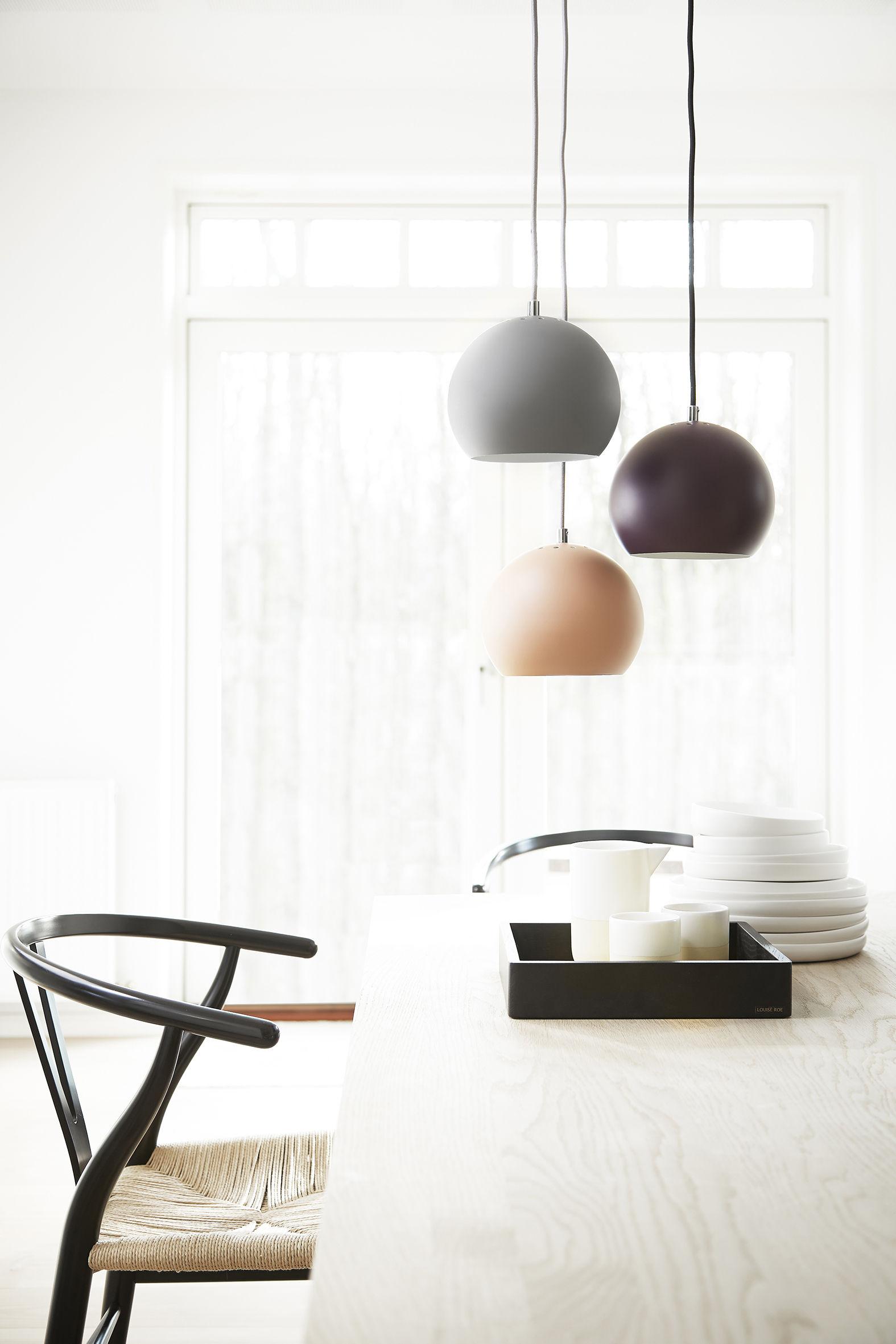 ball small sospensione riedizione 1969 rosso opaco by. Black Bedroom Furniture Sets. Home Design Ideas
