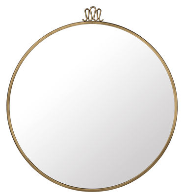 Decoration Mirrors Randaccio Wall Mirror Gio Ponti Ø 70 Cm Brass