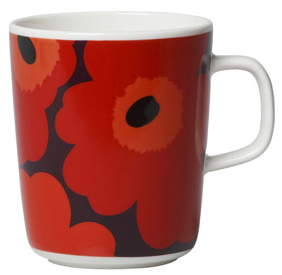 Mug Unikko / 25 cl - Marimekko rose,rouge,orange en céramique