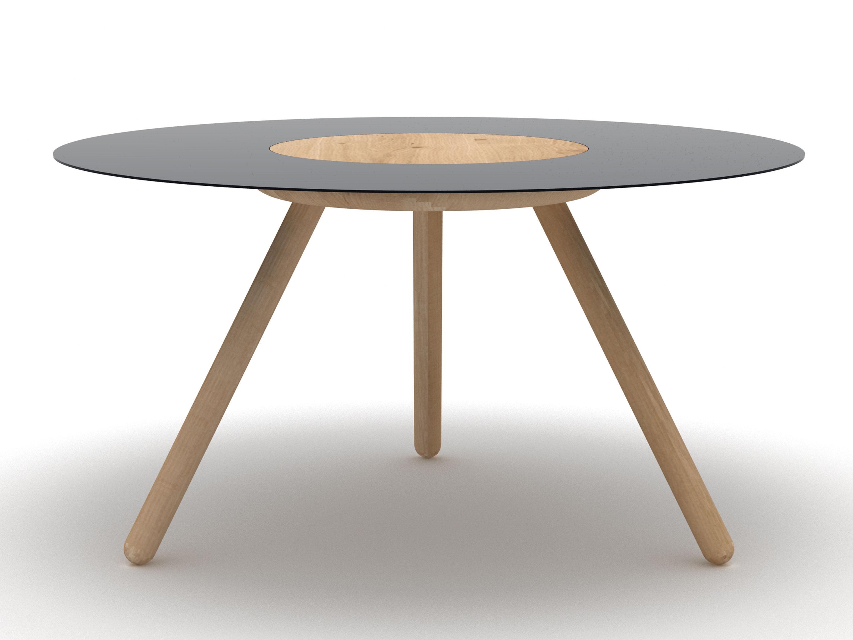 Sputnik coffee table 70 x h 37 cm black by universo for Coffee table 70 x 70