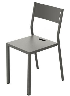 Chaise empilable Take / Métal - Matière Grise taupe en métal