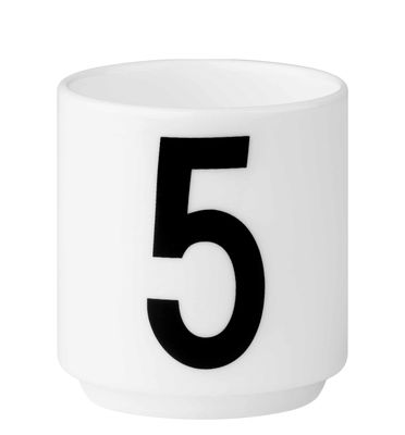 tasse espresso arne jacobsen porcelaine chiffre 5. Black Bedroom Furniture Sets. Home Design Ideas