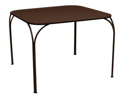 Table Kintbury 100 x 100 cm Fermob rouille en métal