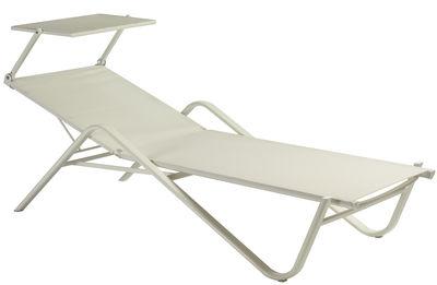 Bain de soleil holly avec pare soleil amovible toile for Chaise longue jardin avec pare soleil