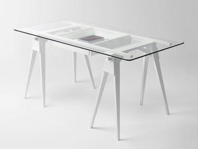 Plateau verre pour bureau arco 150 x 75 cm plateau verre