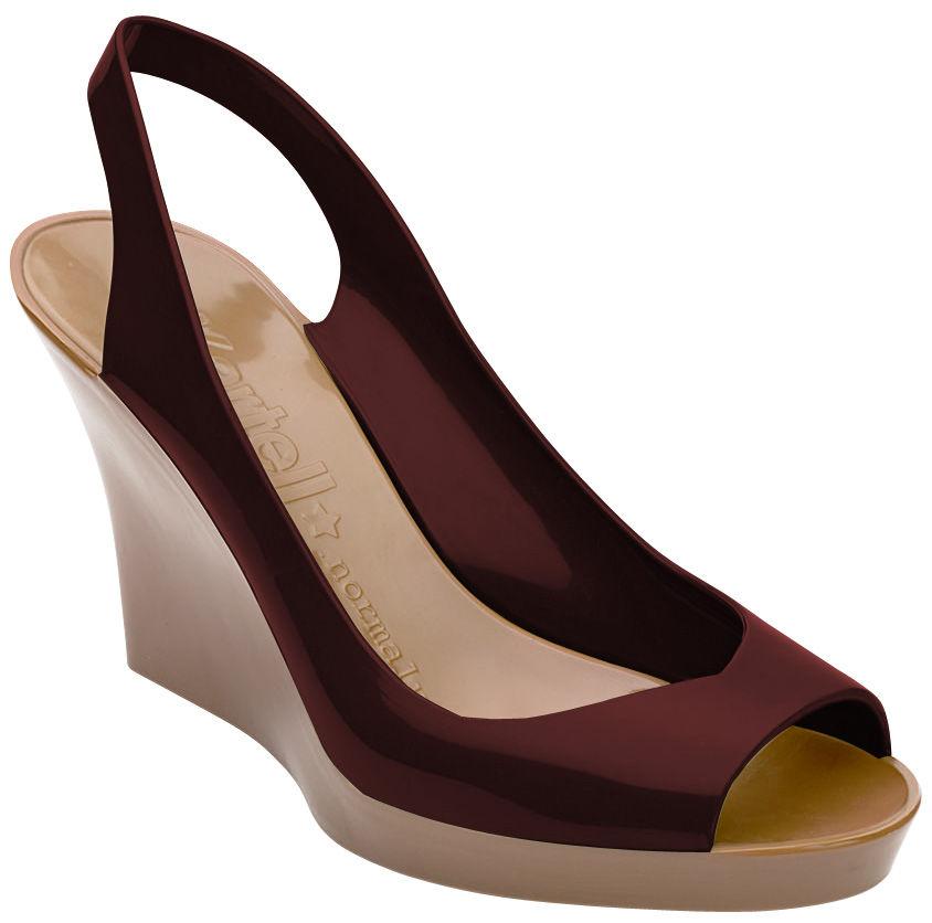 scopri scarpe lady bicolore bordeaux beige numero 39 di kartell made in design italia. Black Bedroom Furniture Sets. Home Design Ideas