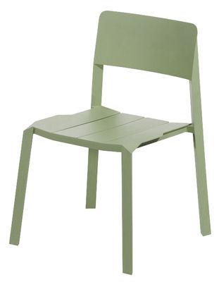 Mobilier - Chaises, fauteuils de salle à manger - Chaise empilable Tri tube / Aluminium - Spécimen Editions - Vert olive - Aluminium laqué époxy