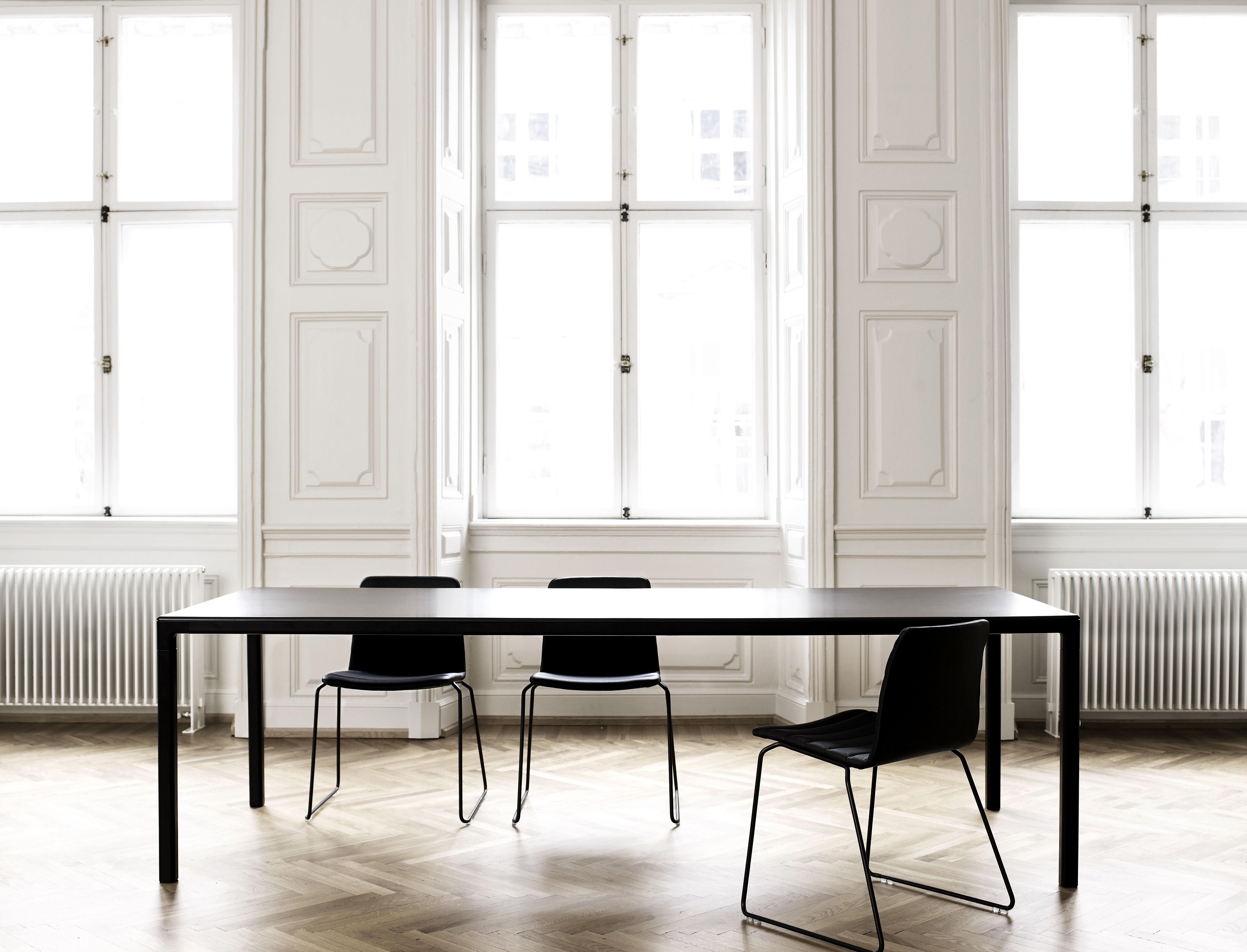 Table T12 Rectangulaire 160 X 80 Cm Noir