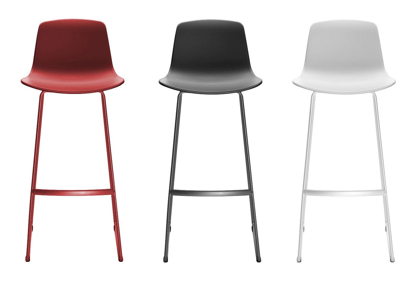 chaise de bar lottus pi tement luge h 76 cm blanc enea. Black Bedroom Furniture Sets. Home Design Ideas