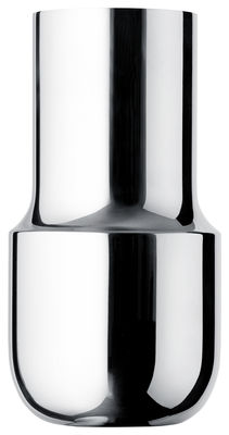 Déco - Vases - Vase Tactiles / Long - Ø 11,5 x H 22 cm - Menu - Long / Acier poli - Acier poli miroir