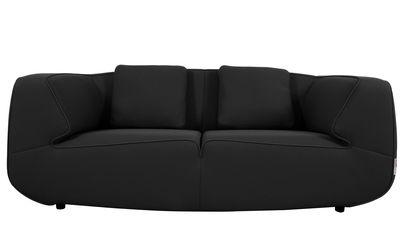 canap droit bump by ora ito 2 3 places l 198 cm noir noir dunlopillo. Black Bedroom Furniture Sets. Home Design Ideas