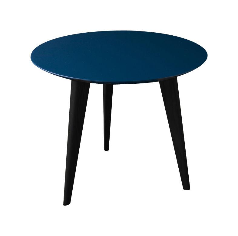 table basse lalinde small 45cm pieds noirs bleu pieds noirs sentou edition. Black Bedroom Furniture Sets. Home Design Ideas