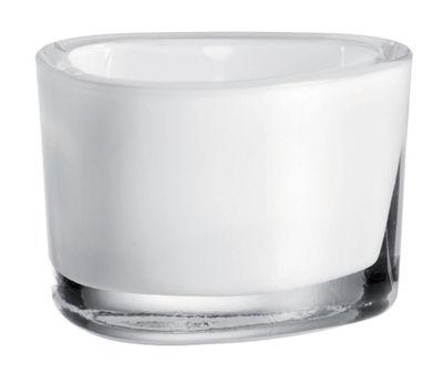 Bougeoir Organic - Leonardo blanc en verre