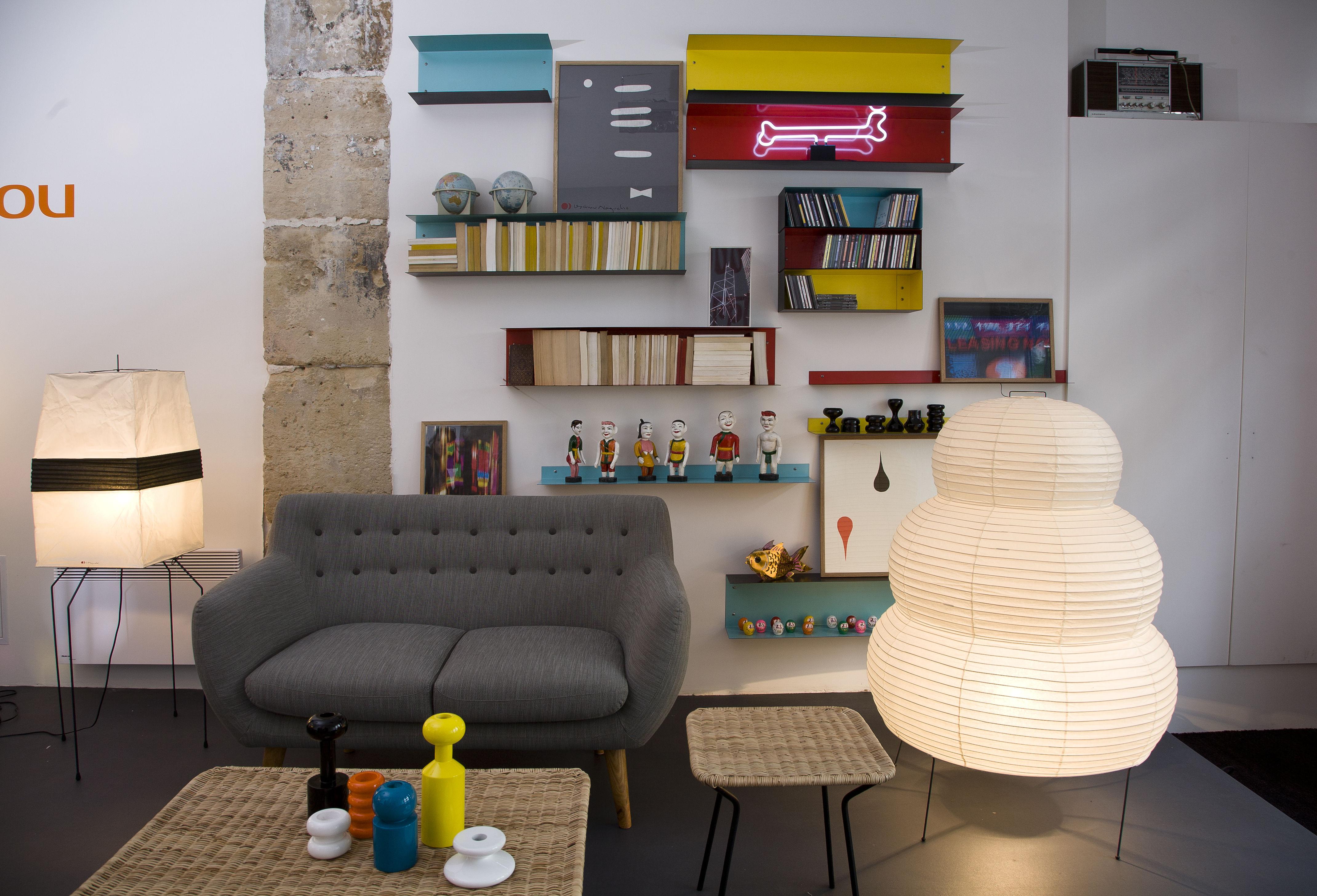 etag re utu l 100 cm jaune ext rieur noir sentou edition. Black Bedroom Furniture Sets. Home Design Ideas