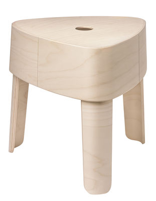 Tabouret empilable Plektra Table d'appoint H 40,9 cm Iittala bois naturel en bois