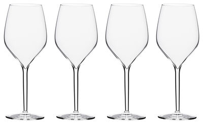 Tableware - Glasses - Vertical Large Wine glass - 4 wine glasses 50 cl by Italesse - Red & white wine / 50 cl - Glass