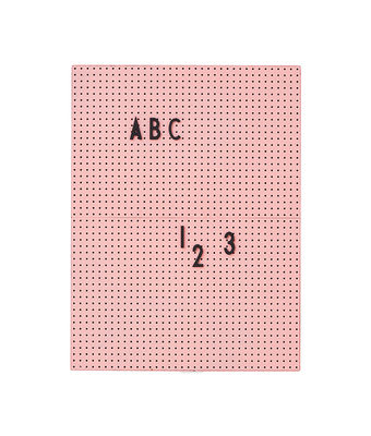 Tableau memo A4 / L 21 x H 30 cm - Design Letters rose en matière plastique