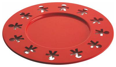Tischkultur - Tabletts - Girotondo Poplike Platzteller Ø 31,5 cm - A di Alessi - Orange - rostfreier Stahl