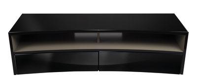Mobilier - Meubles TV - Meuble TV Valmy / Pour écran incurvé - L 150 cm - NorStone - Noir - Panneau de particules plaqué