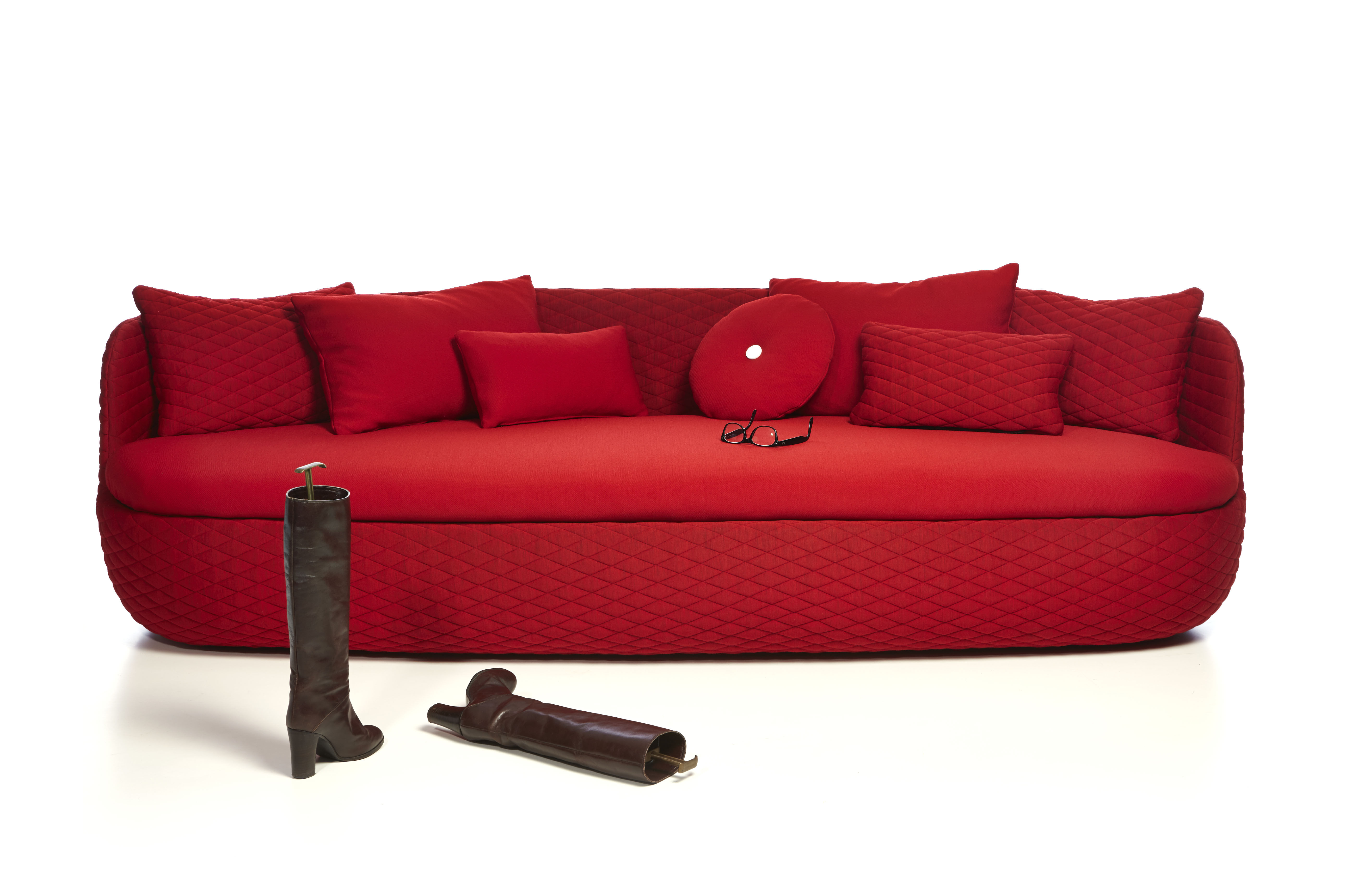 Bart Straight sofa Passion red by Moooi