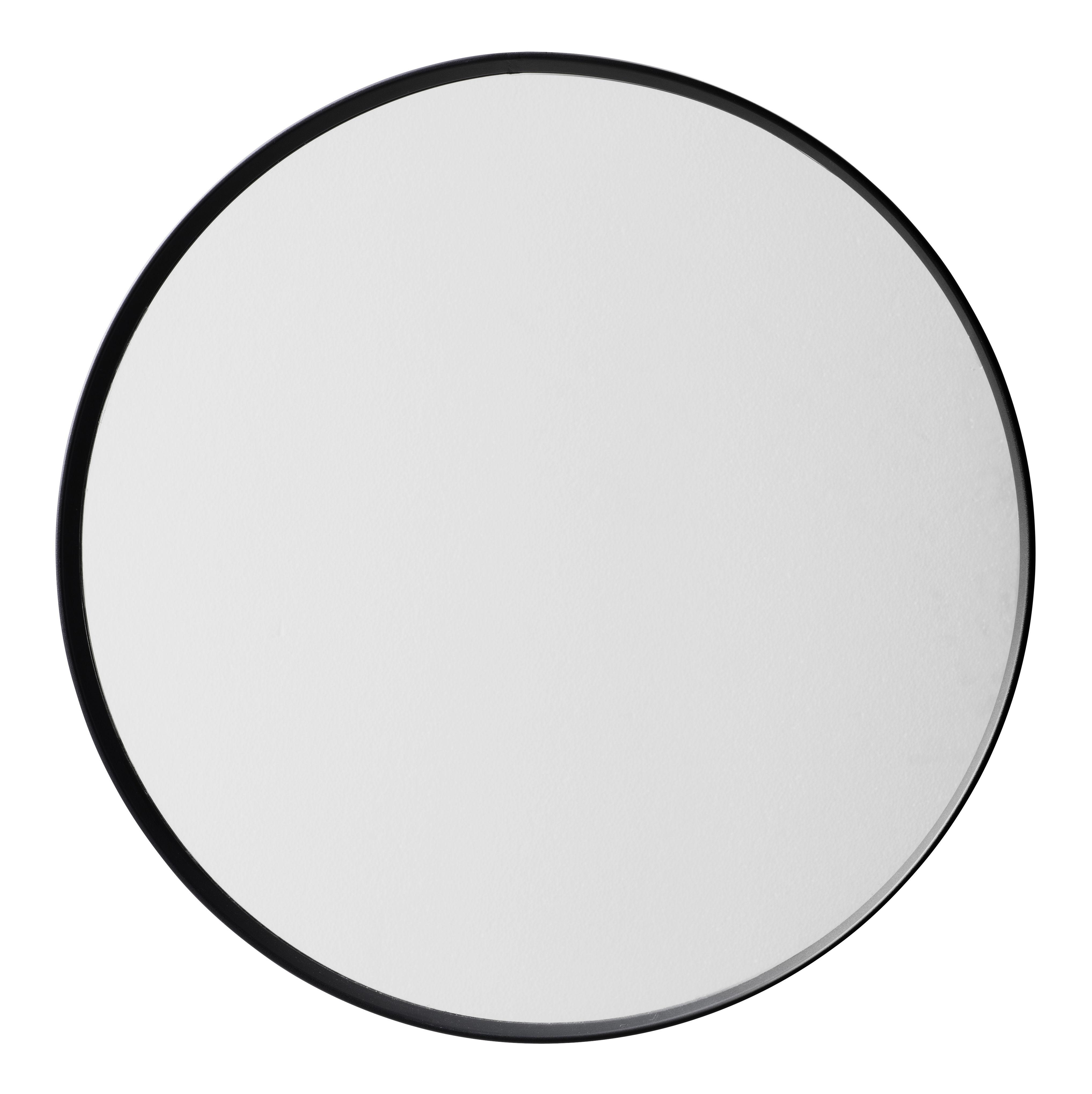 Miroir norm 60 cm noir menu - Miroir rond 35 cm ...