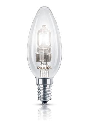 Luminaire - Ampoules et accessoires - Ampoule Eco-halogène E14 EcoClassic Flamme / 28W (35W) - 370 lumen - Philips - 28W (35W) - Métal, Verre