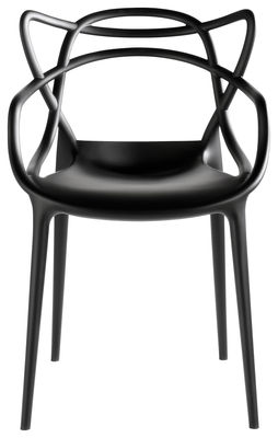 Furniture - Chairs - Masters Stackable armchair - / Plastic by Kartell - Black - Polypropylene