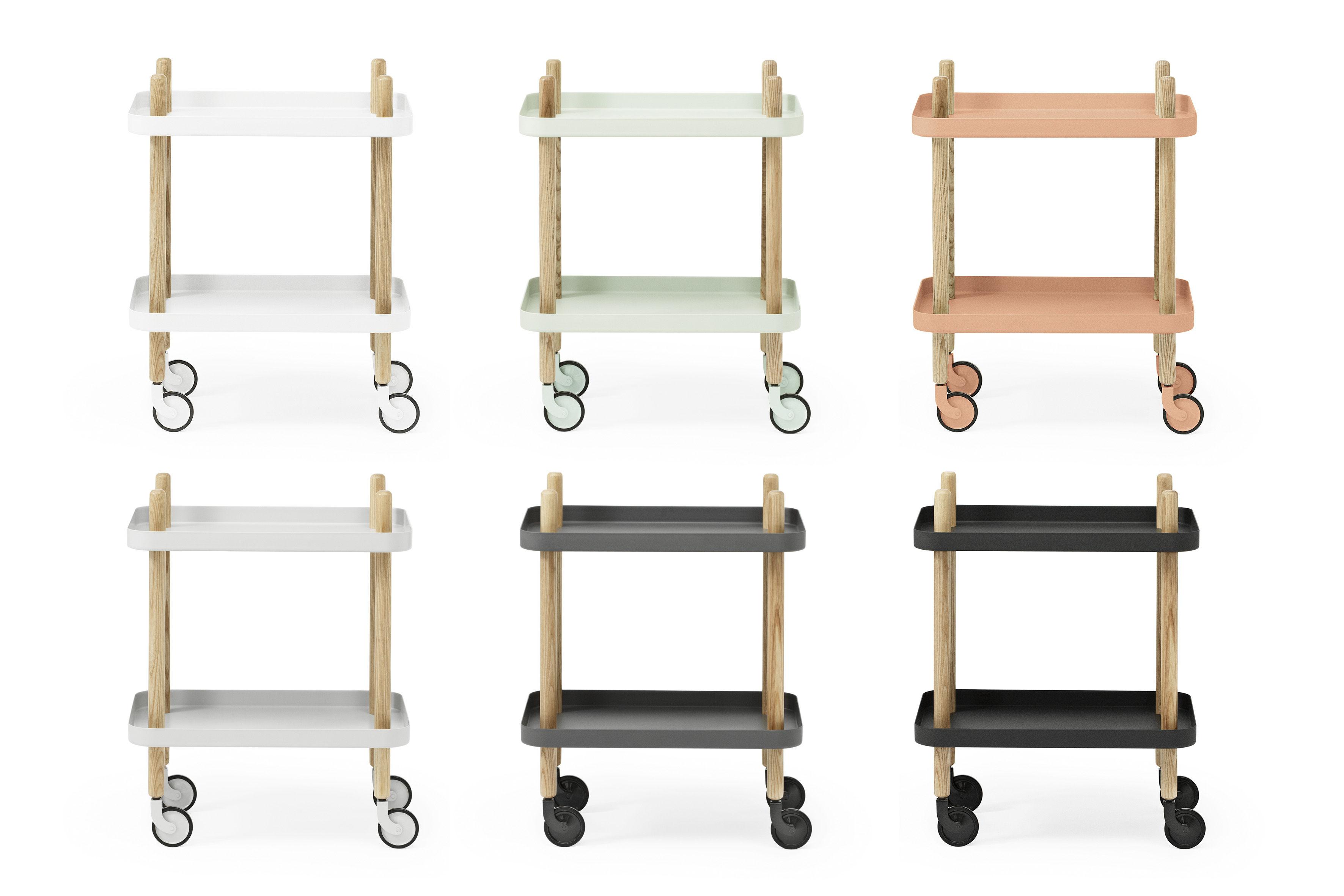 desserte block sur roulettes noir normann copenhagen. Black Bedroom Furniture Sets. Home Design Ideas