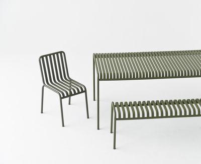 banc palissade l 120 cm r e bouroullec vert olive hay. Black Bedroom Furniture Sets. Home Design Ideas