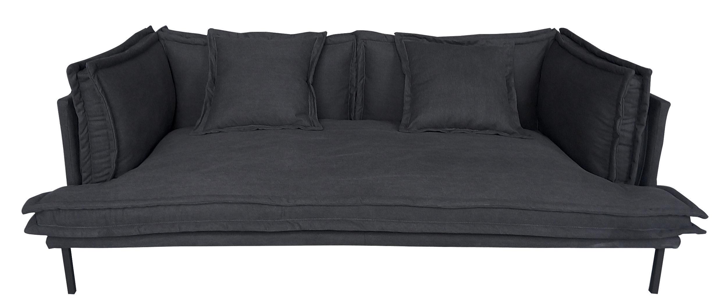 canap droit trexx 3 places l 220 cm exclusivit charbon dutsh pour made in design. Black Bedroom Furniture Sets. Home Design Ideas