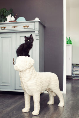 dog scratching post for cats cisal h 71 cm white by. Black Bedroom Furniture Sets. Home Design Ideas