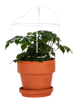 Jardin - Pots et plantes - Pot de fleurs Outline avec tuteur /  Petit modèle - Structure 2 - ENOstudio - Structure 2 / Terracotta & blanc - Métal, Terre cuite
