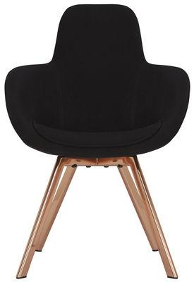 Scoop Gepolsterter Sessel / hohe Rückenlehne - Tom Dixon - Kupfer,Schwarz