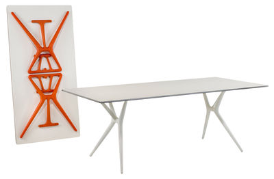 Table pliante spoon bureau cm plateau noir pieds