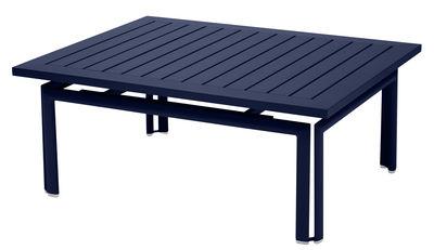 Table basse Costa / Aluminium - 100 x 80 cm - Fermob bleu abysse en métal