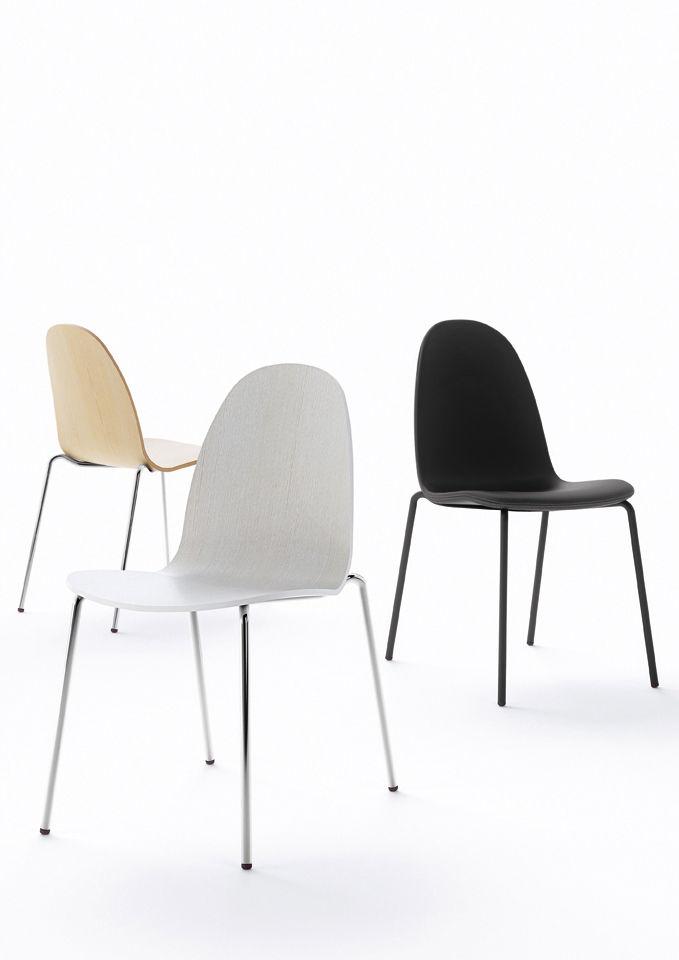 Chaise rembourr e bob tissu face interne tissu gris - Chaise grise tissu ...