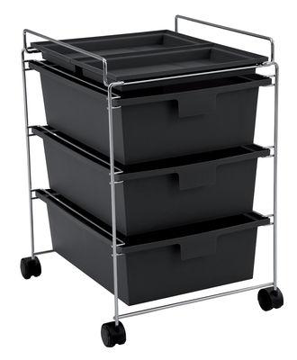 Möbel - Möbel für Teens - Go Ablage - Authentics - Schwarz - Polypropylen, verchromtes Metall