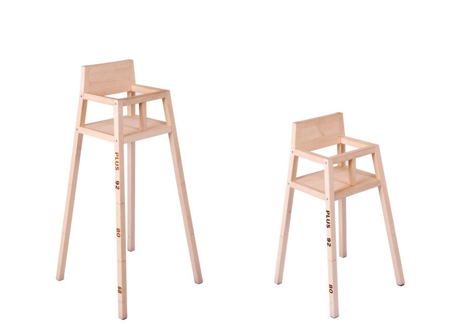 Scopri Chaise haute Highchair -modulabile, Legno di pino di Droog ...