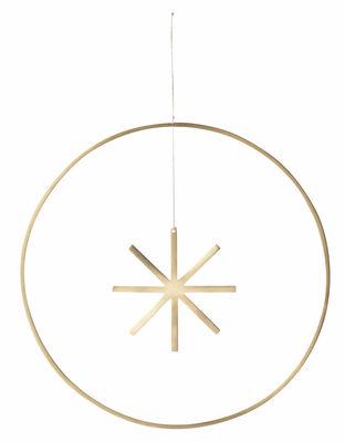 Déco - Objets déco et cadres-photos - Boule de Noël Star / Large Ø 25 cm - Laiton - Ferm Living - Ø 25 cm / Laiton - Laiton massif